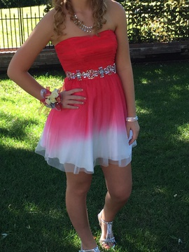 B. Darlin Multicolor Size 4 Homecoming A-line Dress on Queenly