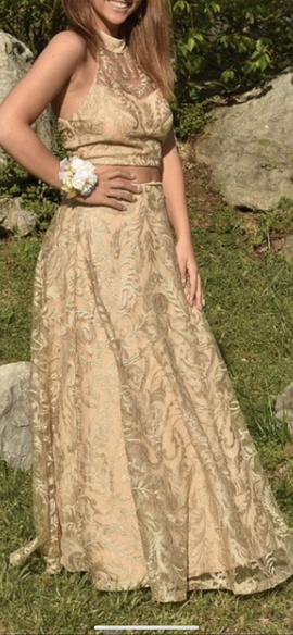 Speechless Gold Size 4 A-line Dress on Queenly