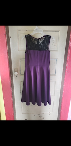 Queenly size 6 Dressy Star Purple Cocktail evening gown/formal dress