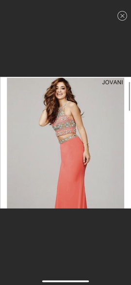 Jovani Pink Size 2 Straight Dress on Queenly