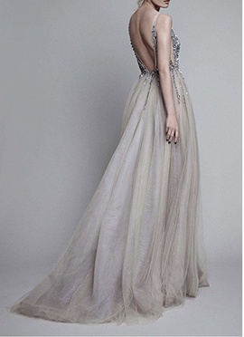 Silver Size 2 Ball gown on Queenly
