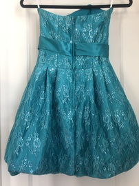 Jessica McClintock Blue Size 0 Strapless Cocktail Dress on Queenly