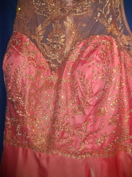 Orange Size 30 Ball gown on Queenly