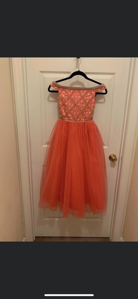 Queenly size 00 Tiffany princess Orange Ball gown evening gown/formal dress