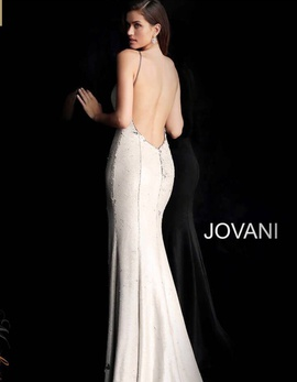 Jovani Gold Size 6 Sequin Silver Halter Straight Dress on Queenly