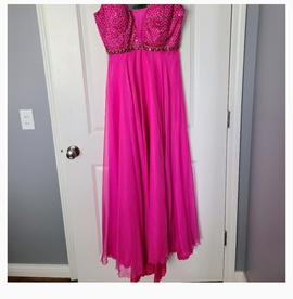 Sherri Hill Pink Size 14 Plunge Mini A-line Dress on Queenly