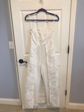 Queenly size 2 Venus White Romper/Jumpsuit evening gown/formal dress