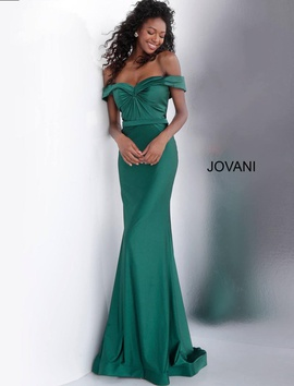 Jovani Green Size 2 Tall Height Straight Dress on Queenly