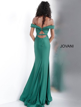 Queenly size 2 Jovani Green Straight evening gown/formal dress