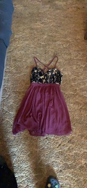 Queenly size 4 PromGirl Red Straight evening gown/formal dress