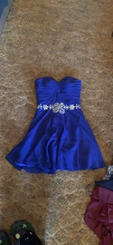 Queenly size 2  Blue Straight evening gown/formal dress