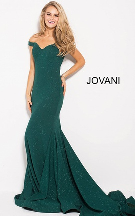 Queenly size 8 Jovani Green Mermaid evening gown/formal dress