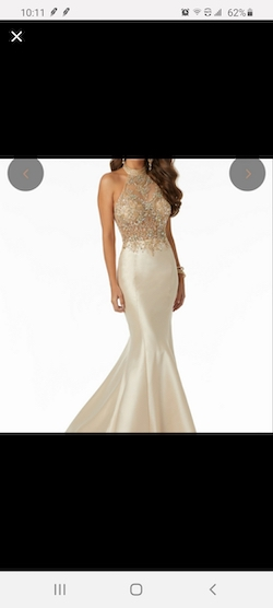 Queenly size 2 Mori Lee Gold Mermaid evening gown/formal dress
