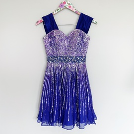 Queenly size 0 Sherri Hill Blue A-line evening gown/formal dress