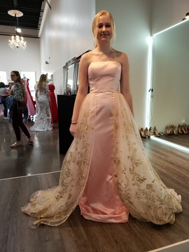 Queenly size 2  Pink Straight evening gown/formal dress