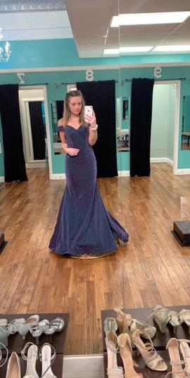 Ashley Lauren Multicolor Size 6 Blue Purple Straight Dress on Queenly