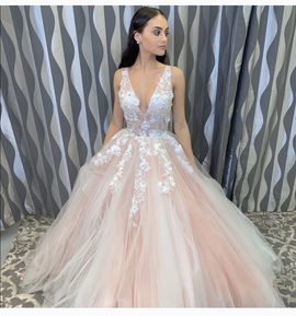 Queenly size 4 Jovani Pink Ball gown evening gown/formal dress