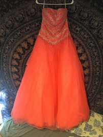 Orange Size 8 Ball gown on Queenly