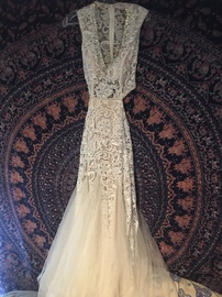 Queenly size 6  White Ball gown evening gown/formal dress