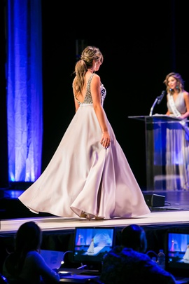 Jovani Silver Size 6 Jewelled Pageant Backless Ball gown on Queenly