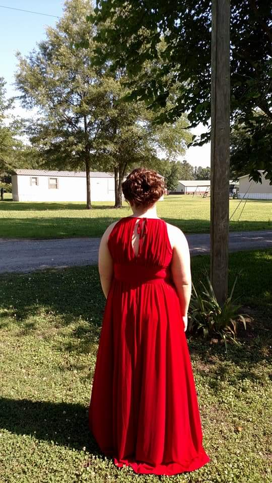 Red Size 16 Side slit Dress on Queenly