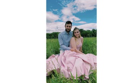 Queenly size 10  Pink Ball gown evening gown/formal dress
