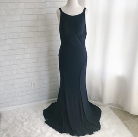Mac Duggal Blue Size 12 Backless Train Dress on Queenly