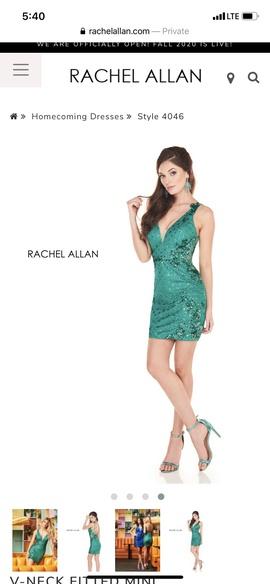 Queenly size 6 Rachel Allan Green Cocktail evening gown/formal dress
