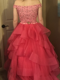 Ellie Wilde Pink Size 10 Ruffles Pageant Ball gown on Queenly