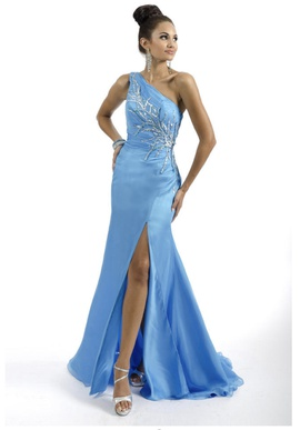 Queenly size 12  Blue Side slit evening gown/formal dress