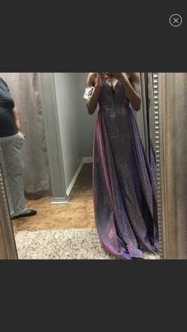 Queenly size 2  Multicolor A-line evening gown/formal dress