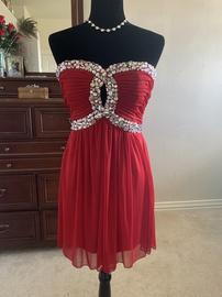 Camille La Vie Red Size 10 Homecoming Cocktail Dress on Queenly