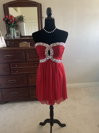 Queenly size 10 Camille La Vie Red Cocktail evening gown/formal dress
