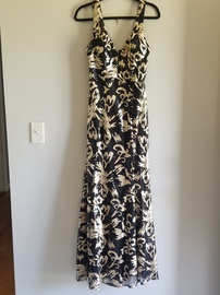 Queenly size 8 Windsor Gold A-line evening gown/formal dress