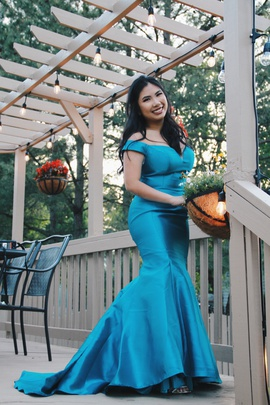 Blue Size 4 Mermaid Dress on Queenly