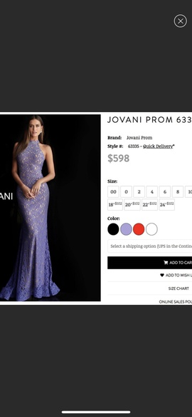 Jovani Blue Size 2 Halter Lace Mermaid Dress on Queenly