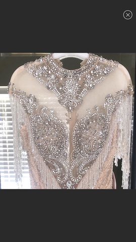 Queenly size 8  Nude Straight evening gown/formal dress