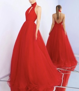 Queenly size 10 Mac Duggal Red Ball gown evening gown/formal dress