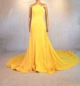 Queenly size 4 Gaspar Cruz Yellow Mermaid evening gown/formal dress