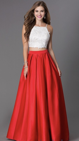 Queenly size 2 Dave & Johnny Red Ball gown evening gown/formal dress