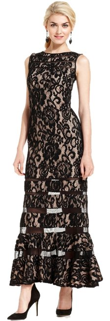 Betsy & Adam Black Size 6 Lace Mermaid Dress on Queenly