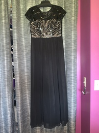 Queenly size 2  Black A-line evening gown/formal dress