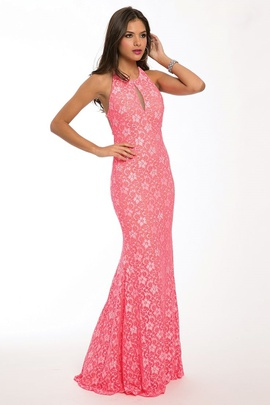 Jovani Pink Size 8 Train Mermaid Dress on Queenly