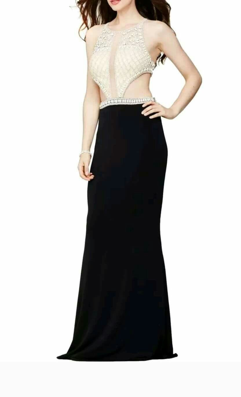 Jovani Black Size 6 Jewelled Pageant Train Straight Dress on Queenly