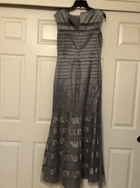EMMA STREET Silver Size 6 Sheer Embroidery Mermaid Dress on Queenly