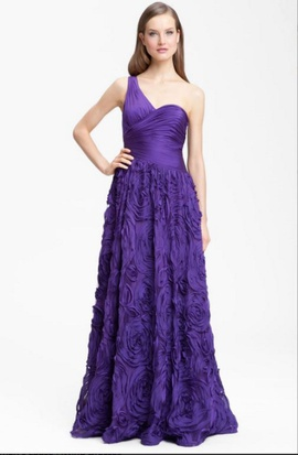 Queenly size 6 Adrianna Papell Purple Ball gown evening gown/formal dress