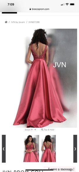 Jovani Pink Size 6 Pageant Ball gown on Queenly