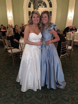 Queenly size 6  Blue Ball gown evening gown/formal dress