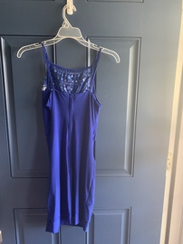B. Darlin Blue Size 8 Homecoming Mini Straight Dress on Queenly