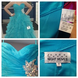 Queenly size 8 Night Moves Blue Ball gown evening gown/formal dress
